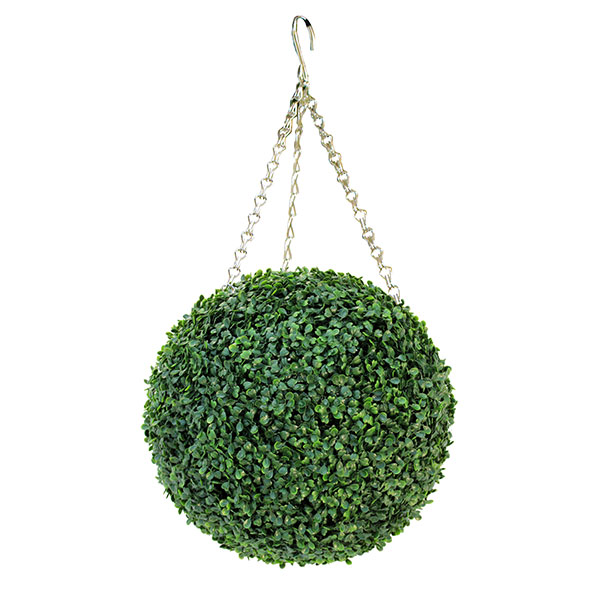 artificial boxwood ball hanging decor