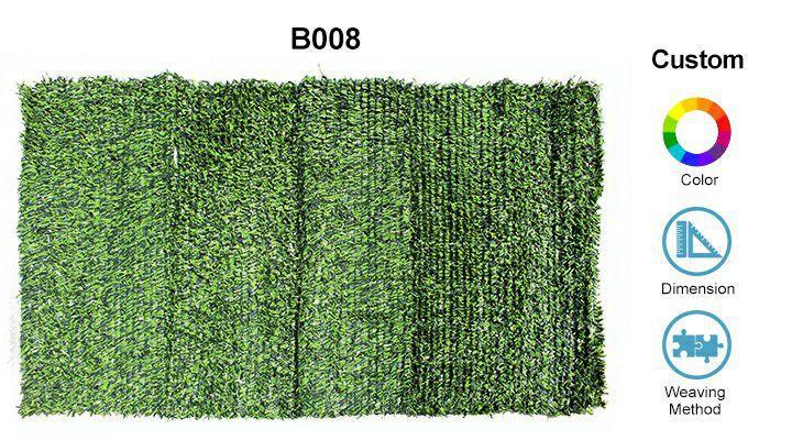 custom aspects of B008 artificial grass fence