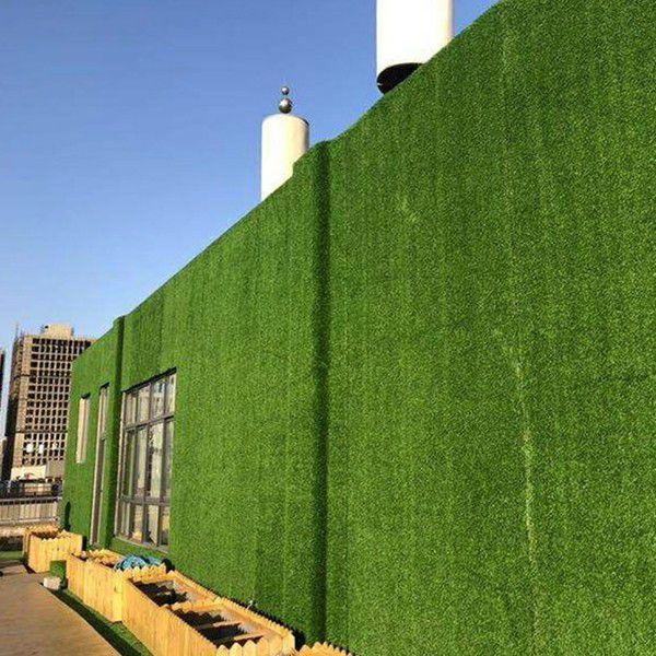 outdoor landscape of B008 artificial wall grass