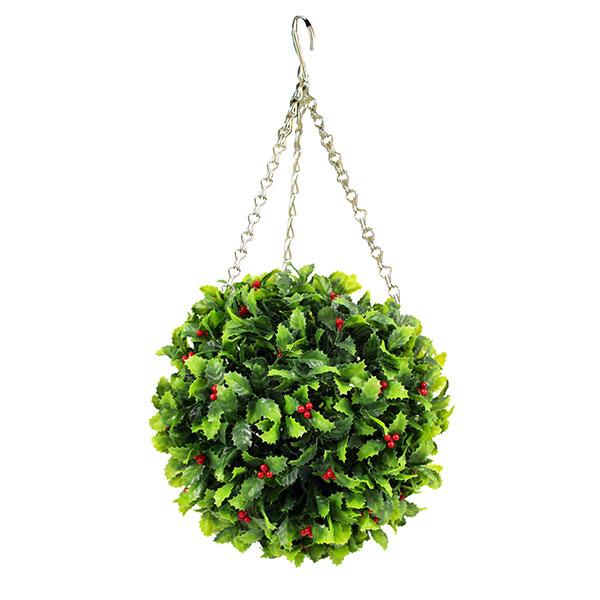 Artificial Christmas Topiary Ball