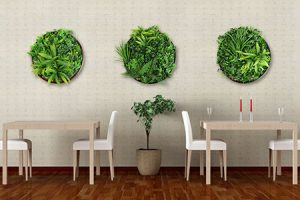 Artificial Green Wall Discs series