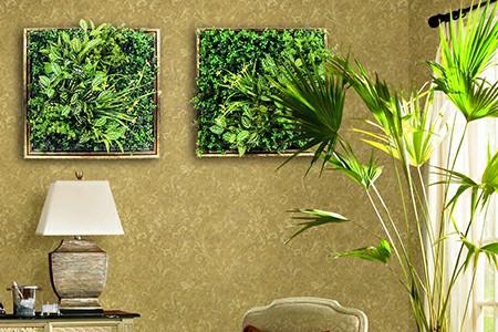 Framed garden wall decor
