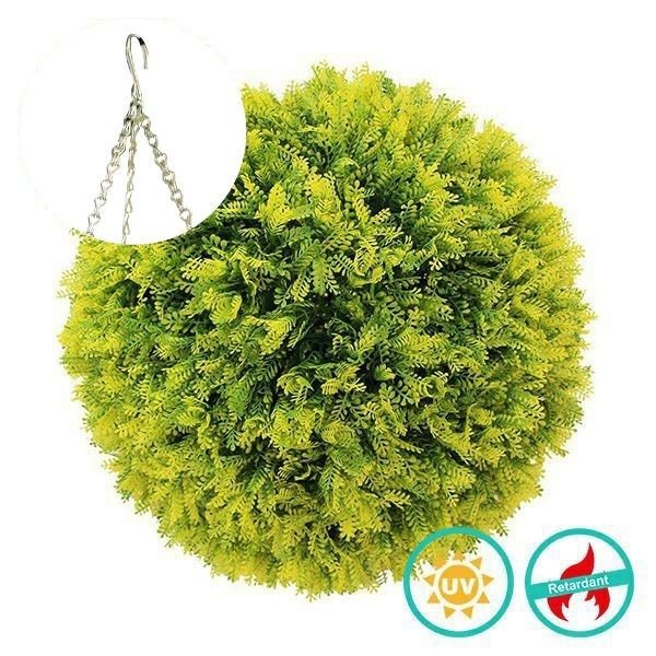PLASTIC TOPIARY BALL WITH DAWN REDWOOD C022