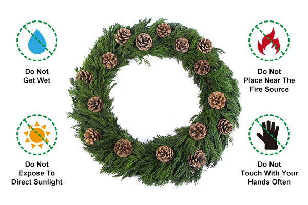 Precautions for using preserved garland