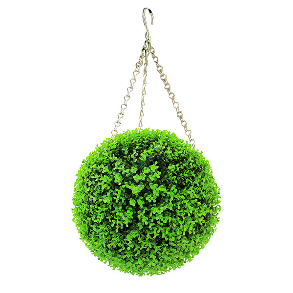 artificial hanging boxwood topiary