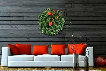 artificial plant wall disks indoor