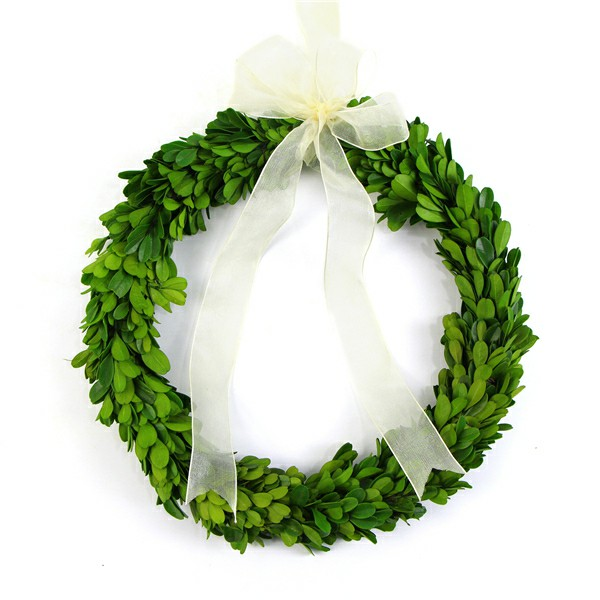 cycle preserved boxwood wreath