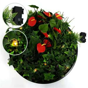 details of artificial wall plants disk