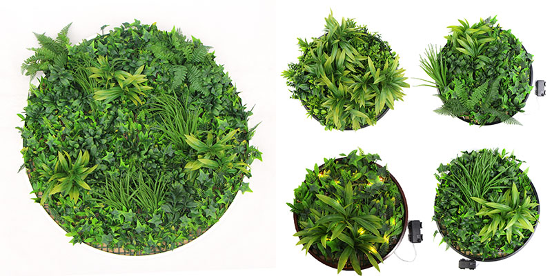 different-size-of-artificial-green-wall-discs
