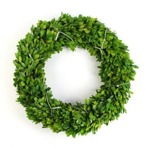 natural boxwood wreath