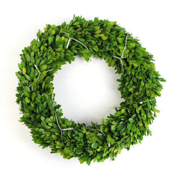 natural boxwood wreath