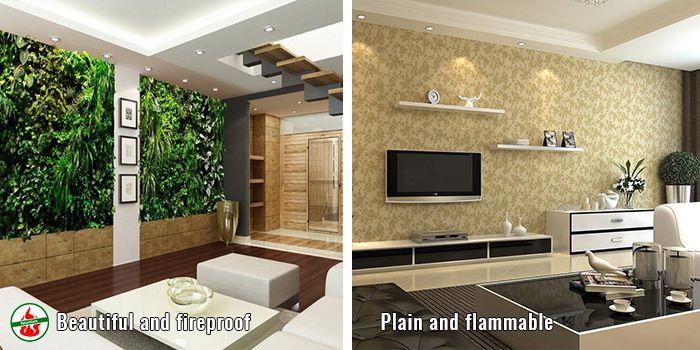 comparison of artificial indoor vertical garden