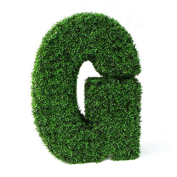 artificial boxwood letter G