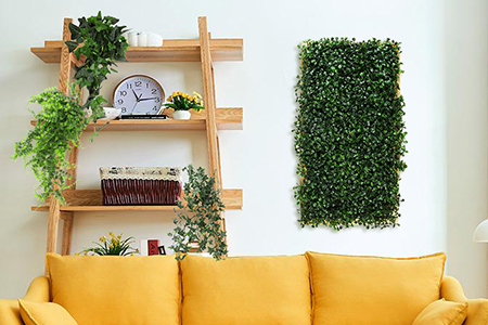 artificial framed boxwood decor