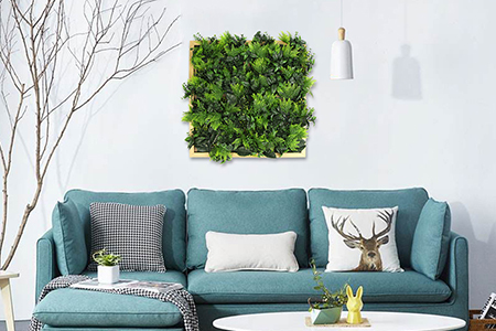 artificial framed plant wall home decor