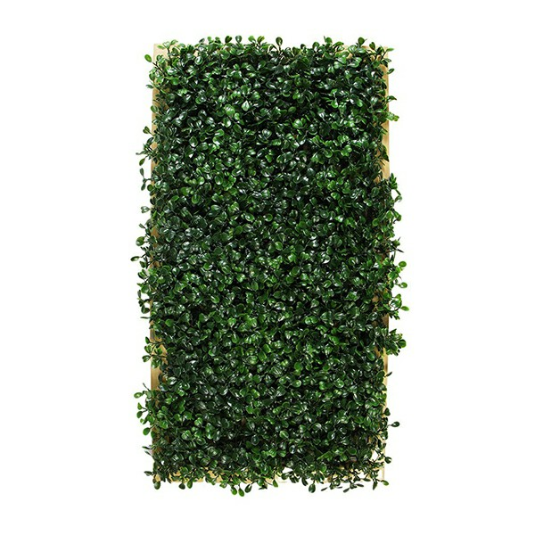 artificial framed wall with boxwood