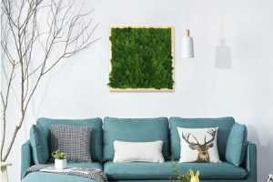 framed moss on the wall