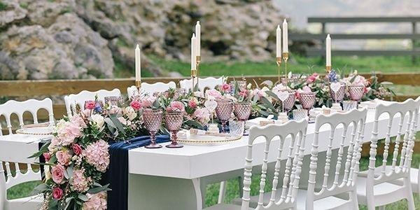 modern wedding decor inspiration - wedding table decorations