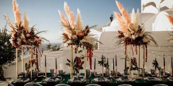 pampas grass - wedding landscape