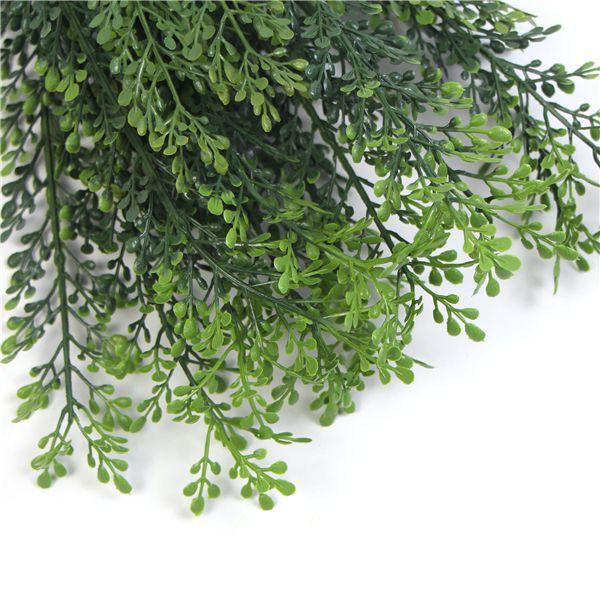 details of plastic shrubs leaves
