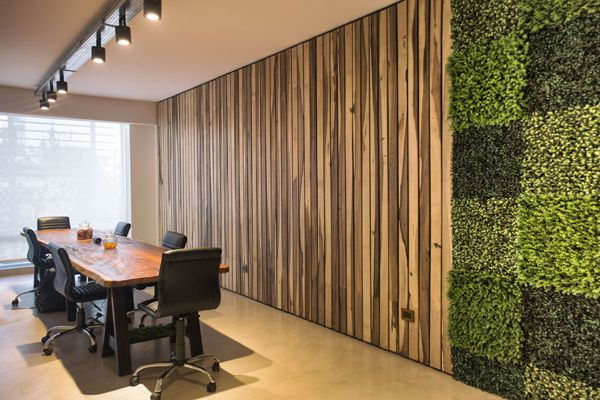 Artificial plant wall office decor
