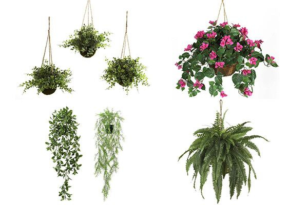 fake hanging plants