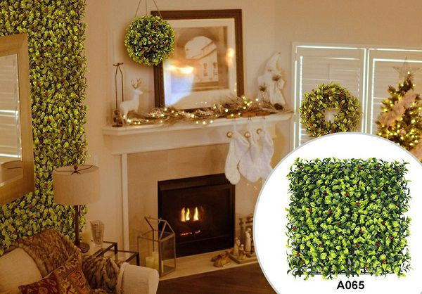 christmas decor of artificial hedging panel
