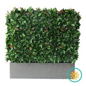 A002 Artificial Hedge Planters with Photinia Foliage