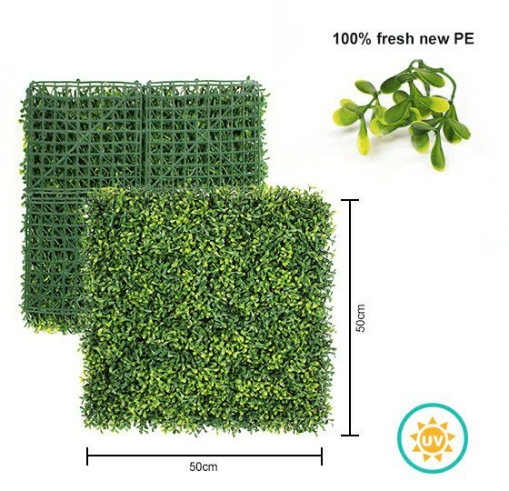 A013 artificial boxwood panels with UV protection