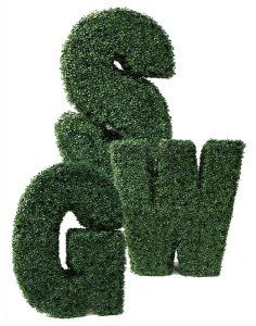 Artificial Topiary Letters by sunwing