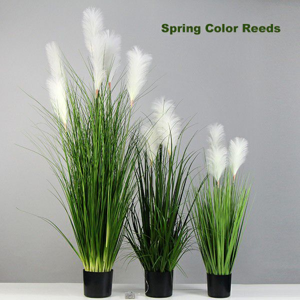 Fake Pampas Grass with Spring Color