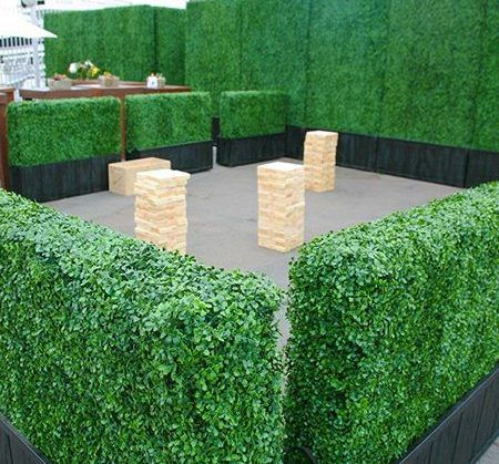 artificial boxwood hedge planters milan landscape
