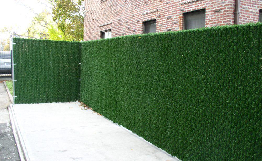 artificial grass fence screen outdoor