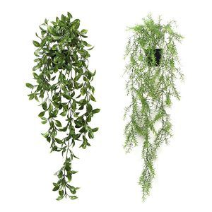 artificial hanging potted plants