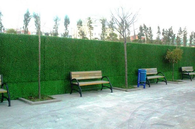 artificial wall grass used for outdoor fence