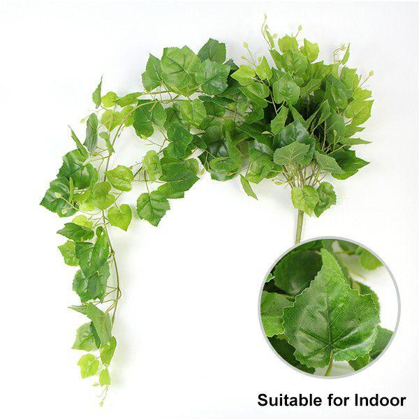 fake indoor ivy hanging plants