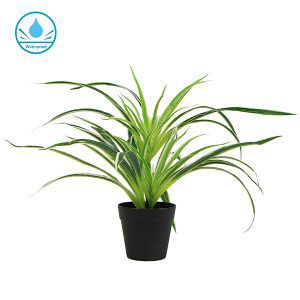 faux potted white grass