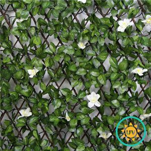 faux silk lattice with flowers