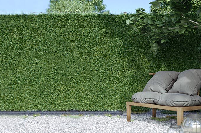 house fence application used with artificial grass