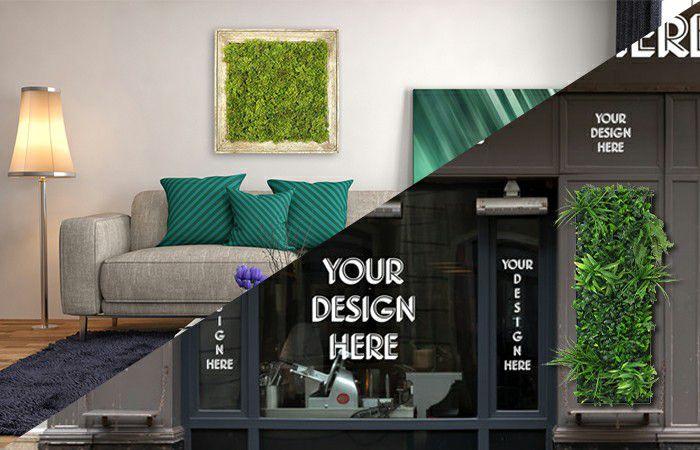 indoor outdoor frame plants wall decor