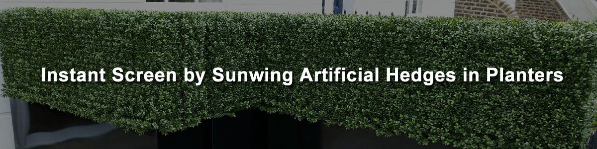 inspire by sunwing artificial hedges in planters