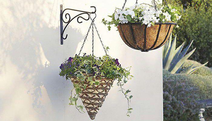 outdoor application of artificial basket plants