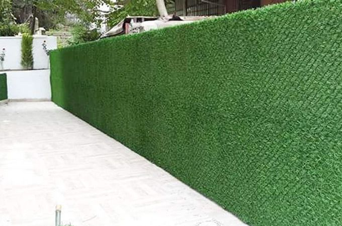 real scenery of outdoor artificial fence