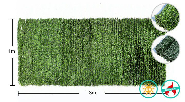 specifications of artificial grass fence