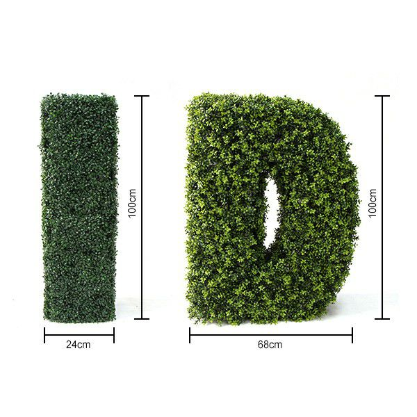 Artificial Boxwood Letters I & D sizes