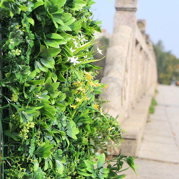 Artificial Floral Vertical Garden Outdoors