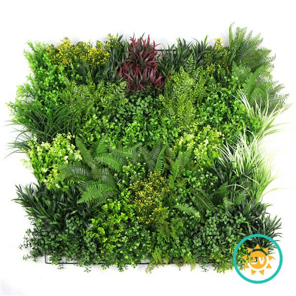 Artificial Vertical Wall Panel with Orchid Leaves H011