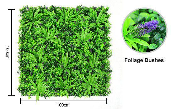 Bountiful leaves of artificial vertical garden