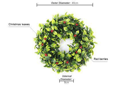 Christmas leaves decorative wreath
