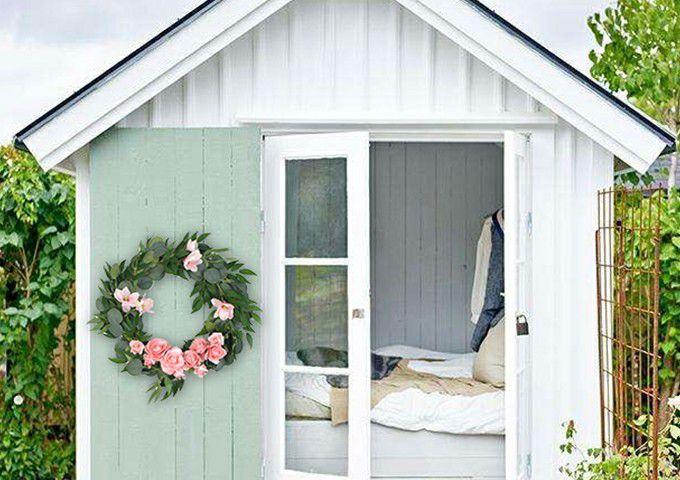 Decorative artificial silk wreath for house